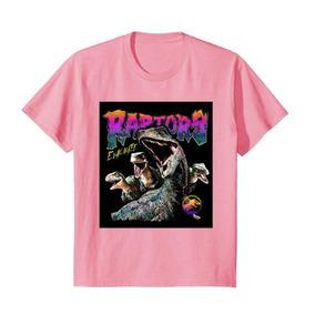 Camiseta Jurassic World Dinosaurio Raptors Para Niños Rosa 1