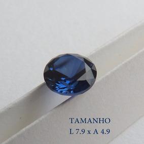 Safira Azul Pedra Preciosa Safira Redonda 8 Mm 3074
