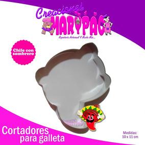 Cortador Galleta Chile Con Sombrero Fiestas Patrias Patrio cc3fa31a9fd