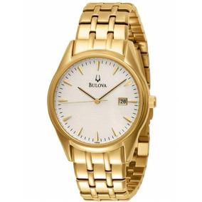 Relógio Masculino Bulova Dress Wb21445h Dourado