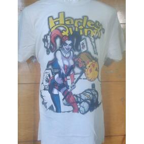 Dc - Playera Importada Harley Quinn, Mazo Y Batman Original
