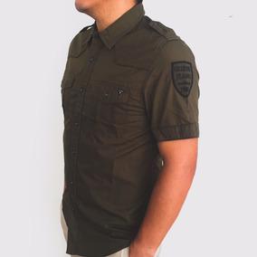 Camisa Hombre Guess Manga Corta Original Verde 2a8a2025446