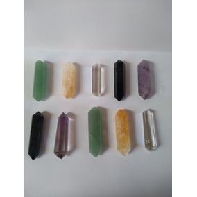 Kit 10 Biterminado Ametista Obsidiana Cristal Quartzo Fume