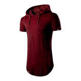 Camisa Longline Oversized Com Capuz Swag Básica Vcstilo