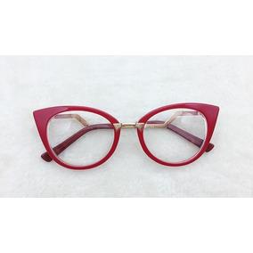 Óculos Armação De Grau Estilo Gatinho Acetato Fem. A001 a8ca8d8fb9