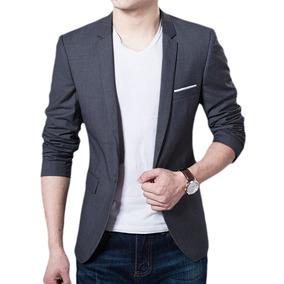 Blazer Casual Slim Fit Para Fiesta Varios Colores