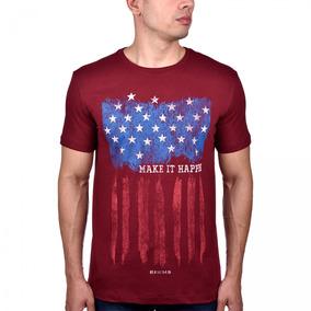 d9f05c5f15945 Camiseta Masculina United States Bordô 138 Bf  ms Lançamento