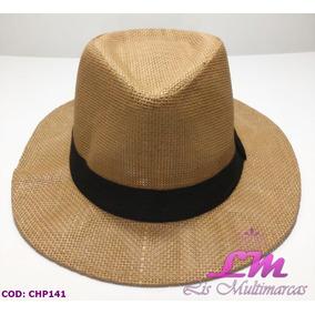 d3c91d137cda9 Chapéu Panamá Caramelo - Tamanho 58 - Aba Grande. R  30 90