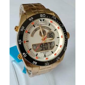 24bb7dfcde0 Relogio Masculino Dourado Atlantis Marinus Ref-g3449 Sports