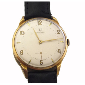 Relógio Universal Geneve 17 Rubis Masculino Em Ouro J12583