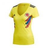 79dcea70a8 Camisa Colômbia Uniforme 1 Feminina 2018 2019 Frete Grátis
