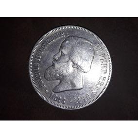 Moeda Prata 2000 Reis Decreto De 1870 Ano 1888 Petrus Ii D.g