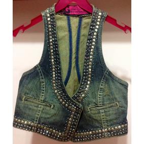 7695ff78cf Colete Jeans Feminino Coleção Beyoncé Tam 40 Um Arraso!