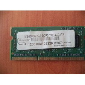 Memoria Ram 2 Gb Ddr3, 1333 Mhz Laptop