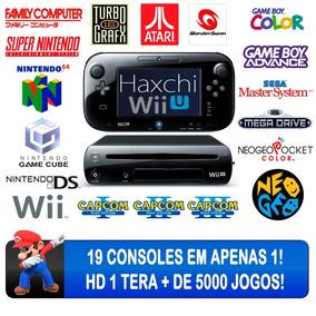 Nintendo Wii U Hd 1 Tera Haxchi 5000 Jogos Garantia 6 Meses