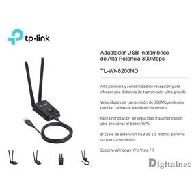 Placa De Red Usb Wi-fi Tp Link 8200nd Largo Alcance Adaptad