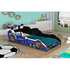 Mini Cama Carro Solteiro Meninos Infantil Formula 1 Blueshop