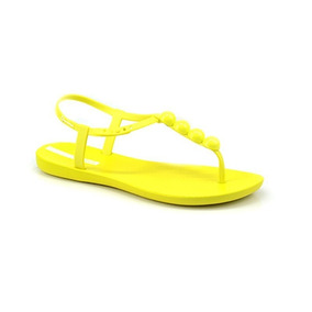Sandália Rasteira Class Glam Ipanema Amarelo Amarelo Neon -