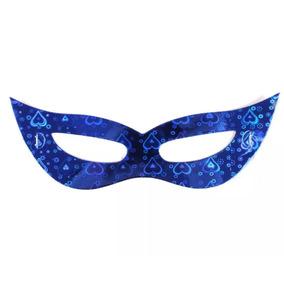 Máscaras Holográficas Gatinha Adereços Carnaval - Kit 50un