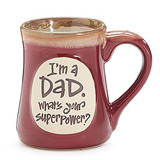 1 X Im A Dad Superpower Burgundy 18 Oz Mug