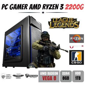 Pc Gamer Amd Ryzen 3 2200g 3.5ghz + 8gb Ddr4 + Hd 1tb Vega 8