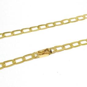 Cordão Laminado Masculino Ouro 18k 750 Maciço 10 Gramas 60cm
