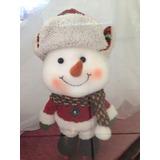 Navidad Figuras Decorativas Muñeco De Nieve Patines
