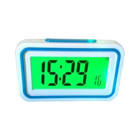 Relógio De Mesa Digital Lcd Fala Hora Em Português
