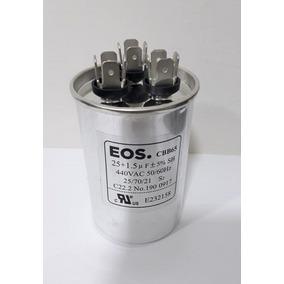 Capacitor Permanente Duplo 25+1.5 Mfd 440v Eos Com Terminal