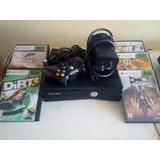 Xbox 360 Slim + Control + 5 Juegos (poco Uso)
