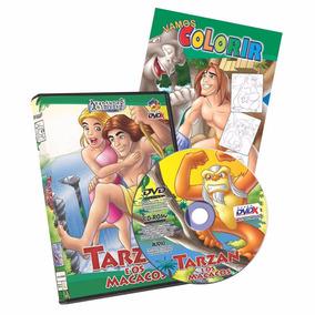 Tarzan E Os Macacos - 1 Dvd -1 Livro