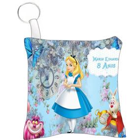 30 Almofada Chaveiro Personalizado Alice País Das Maravilha