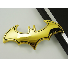 Batman Adesivo Dourado 3d Metal Moto Carro Emblema