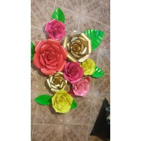Flores De Papel Decoracion Para Fiestas En Puebla En Mercado Libre