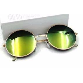 Óculos De Sol Redondo Masculino - Feminino - Com Proteção Uv d5b8cbb69c