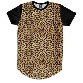 87330151b Camiseta Ginástica Yoga Estampa Onça 3d Diferente - Camisetas e ...