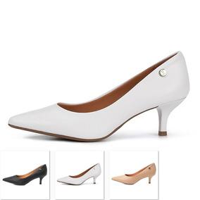 39b7ad119c Scarpin Salto Baixo Grosso Bico Fino - Sapatos Branco no Mercado ...
