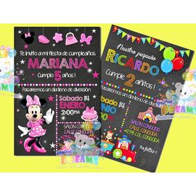 Invitaciones Personalizadas Tipo Pizarron Impresas