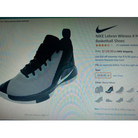 differently c1bf3 78c25 Zapatos Nike Lebron James Witness 2 Talla 10.5