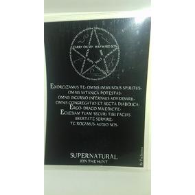 Placa / Poster Exorcismo Supernatural