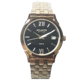 8d2f461c032 Relógio Atlantis Dourado Com Fundo Preto Feminino - Relógios De ...