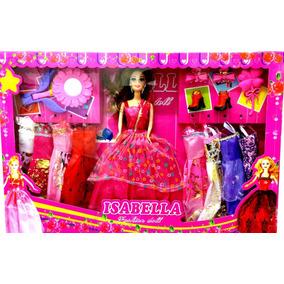 Boneca Tipo Barbie Com Acessórios E Roupas Pronta Entrega!