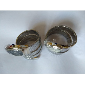 Relógio Feminino Serpente Cobra Branco Prata Preto Strass