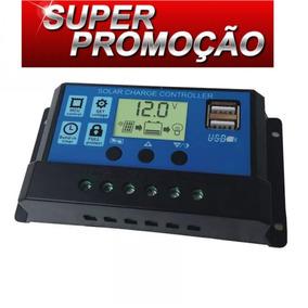 Controlador De Carga Painel Solar 30a Usb 12/24v Pwm Lcd