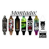 Skate Longboard Montado Completo Roda 70 (pronto Para Andar)