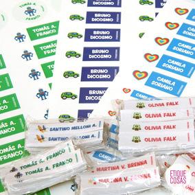Etiquetas Escolares Personalizadas Utiles Ropa Vianda Combo