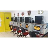 Lan House Completa Com 5 Computadores + Geladeira Expositora