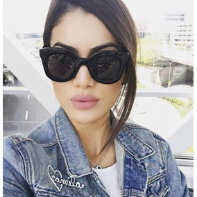 Oculos Sol Feminino Grande Gatinho Retro Luxo Preto Celine. R  45 0d2c639e5b