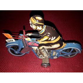 Antigua Moto Chapa Motocicleta Juguete A Cuerda Adorno