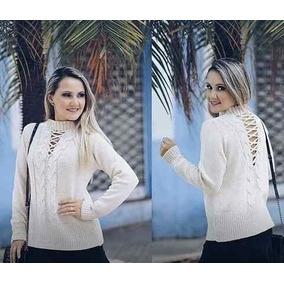 Blusa Roupas Femininas Trançada Nas Costas Moda Blogueiras